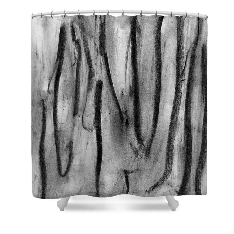 Invisible Lives Shower Curtain featuring the painting Invisible Lives by Taylor Webb