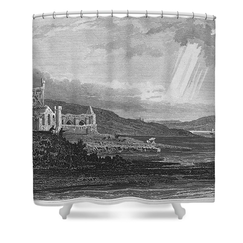 13th Century Shower Curtain featuring the photograph Ireland: Dunbrody Abbey by Granger