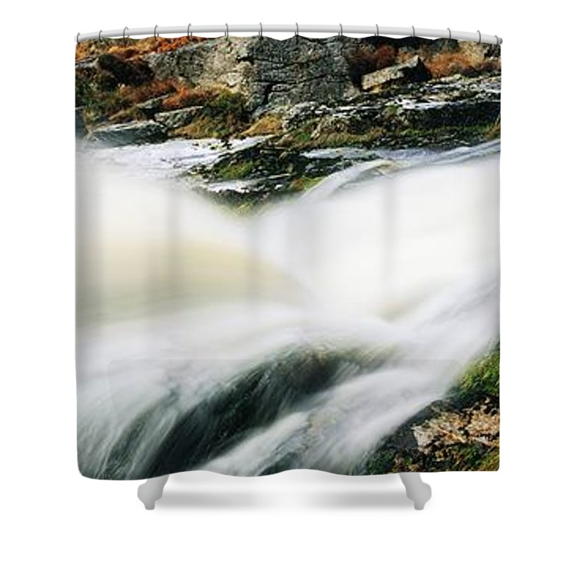 Cascading Shower Curtain featuring the photograph Ireland Waterfall by The Irish Image Collection