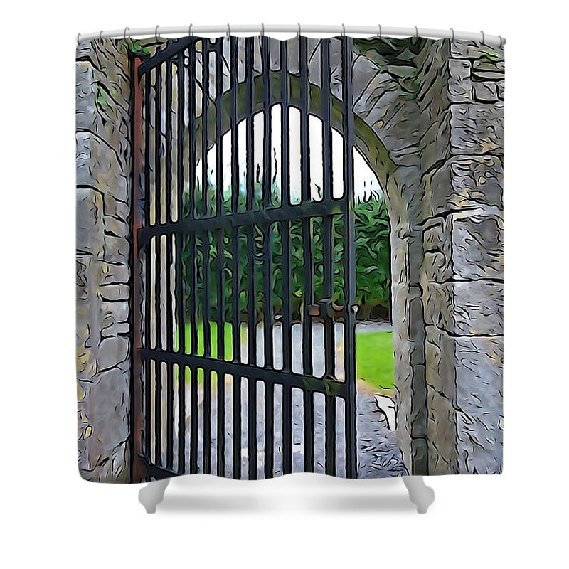 Gate Shower Curtain featuring the photograph Iron Gate by Charlie and Norma Brock