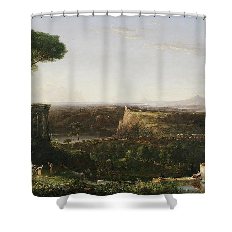 Italian Scene Composition Shower Curtain For Sale By Thomas Cole