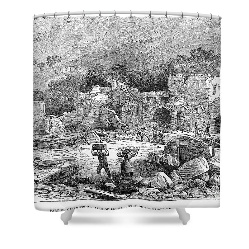 1881 Shower Curtain featuring the photograph Italy: Earthquake, 1881 by Granger