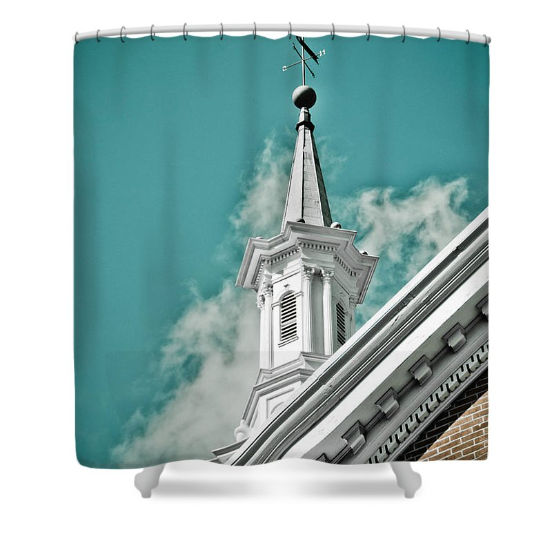 Sky Shower Curtain featuring the photograph It's A Beautiful Day by Trish Tritz