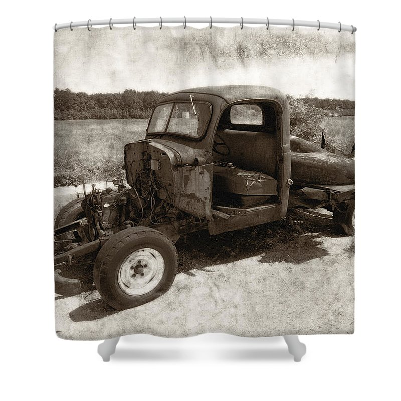 Automobile Shower Curtain featuring the photograph Jalopy by Julie Niemela