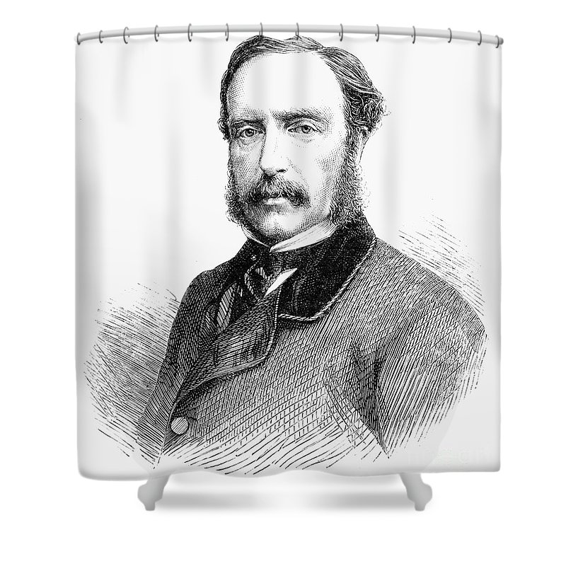 1865 Shower Curtain featuring the photograph James Molyneux Caulfeild by Granger