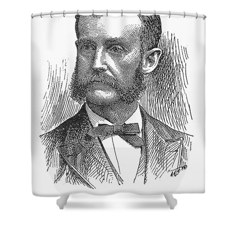 19th Century Shower Curtain featuring the photograph James Russell Miller by Granger