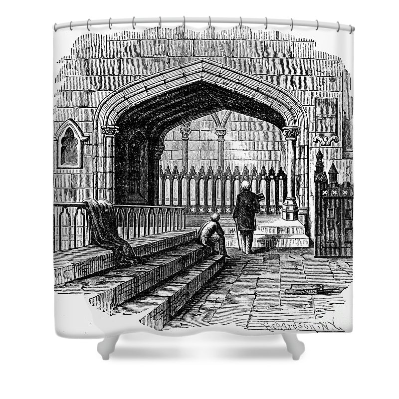 19th Century Shower Curtain featuring the photograph James Watt: Tomb, 1819 by Granger