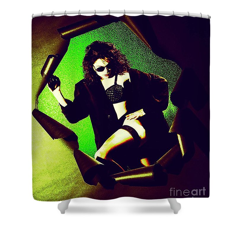 Model Shower Curtain featuring the photograph Jane Joker 3 by Gary Gingrich Galleries