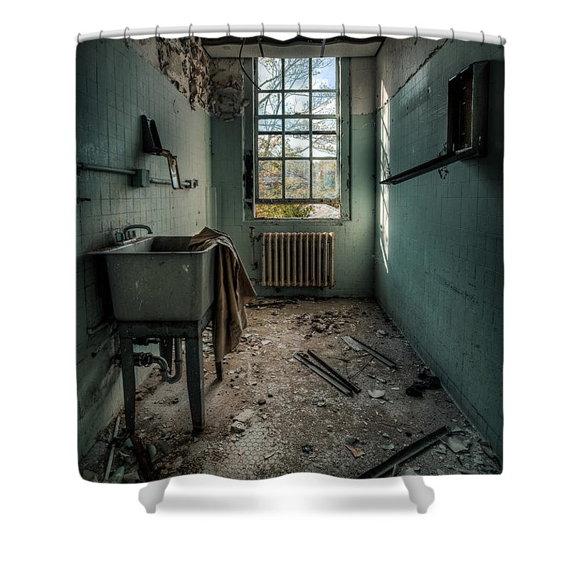 Hdr Shower Curtain Featuring The Photograph Janitors Closet By Gary Heller