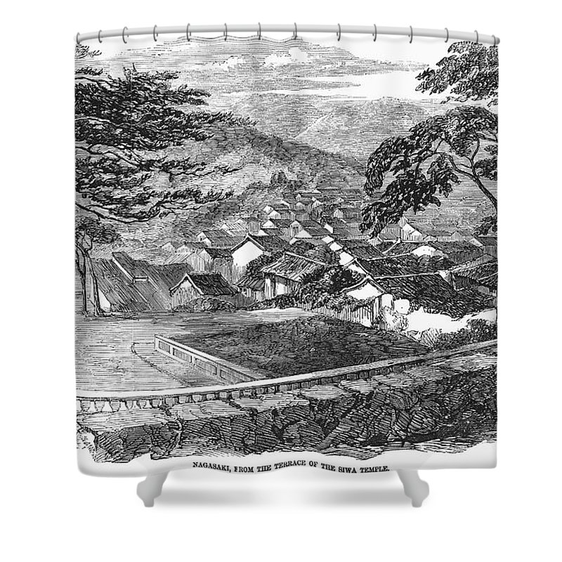 1858 Shower Curtain featuring the photograph Japan: Nagasaki, 1858 by Granger