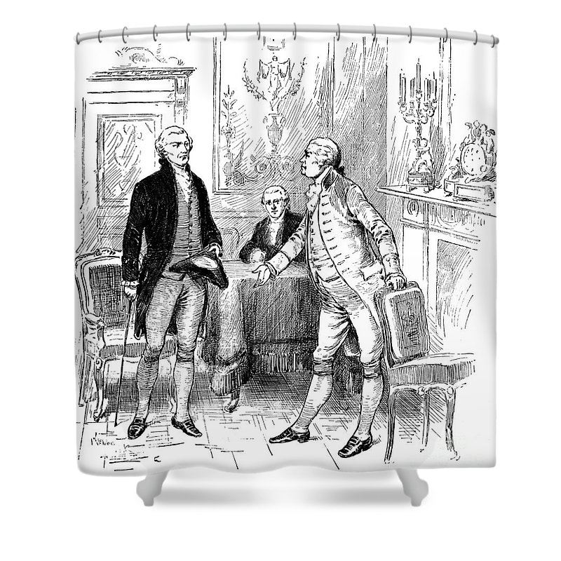 1793 Shower Curtain featuring the photograph Jefferson & Genet, 1793 by Granger