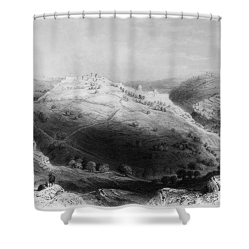 1843 Shower Curtain featuring the photograph Jerusalem: Mount Zion by Granger
