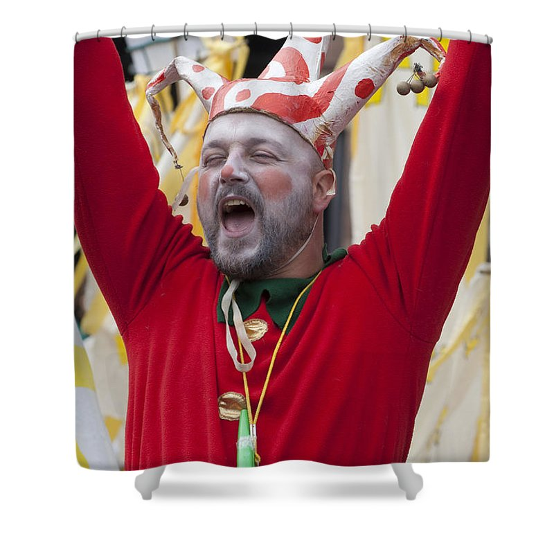 Britain Shower Curtain featuring the photograph Jester by Andrew Michael