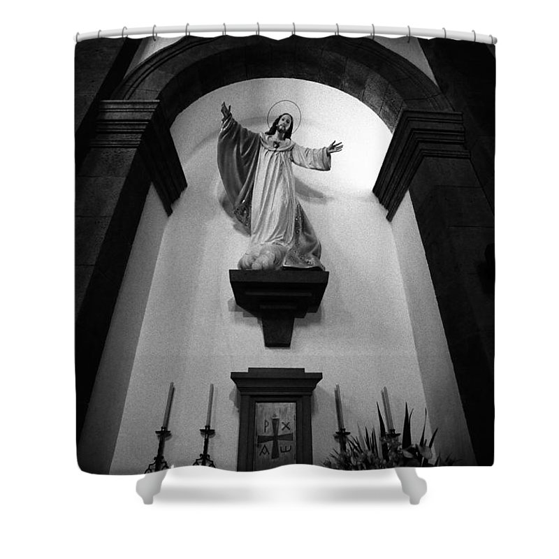 Iconography Shower Curtain featuring the photograph Jesus Christ by Gaspar Avila