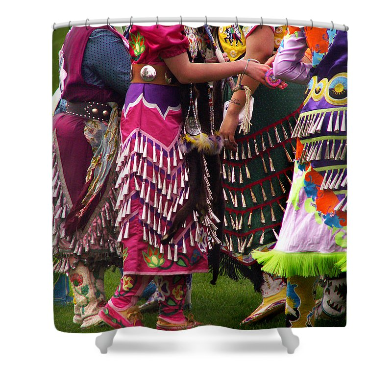 Jingle Dance Shower Curtain Featuring The Photograph Jingles For By Nancy Griswold
