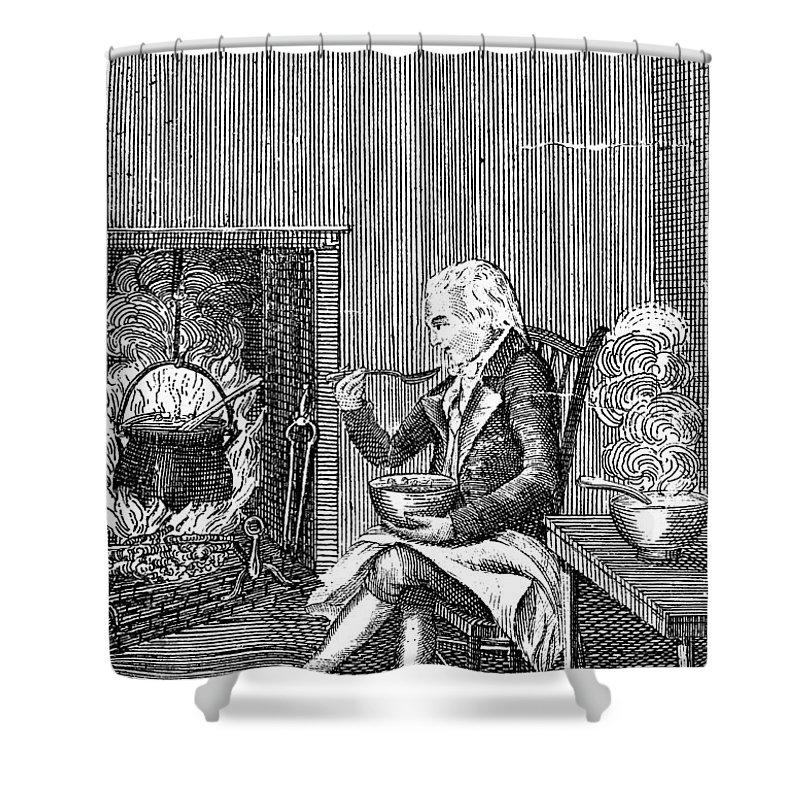 1796 Shower Curtain featuring the photograph Joel Barlow Frontispiece by Granger