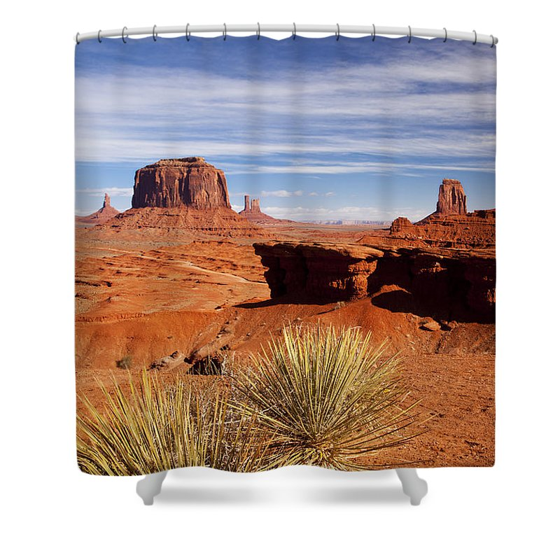 America Shower Curtain featuring the photograph John Ford Point Monument Valley by Brian Jannsen
