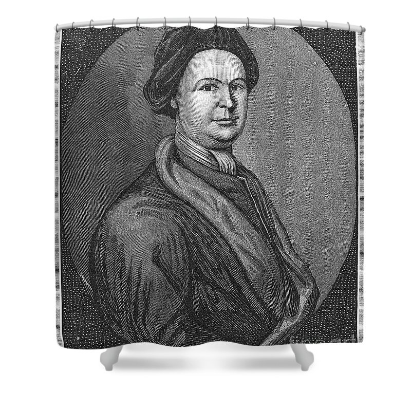 18th Century Shower Curtain featuring the photograph John Lovell (1710-1778) by Granger