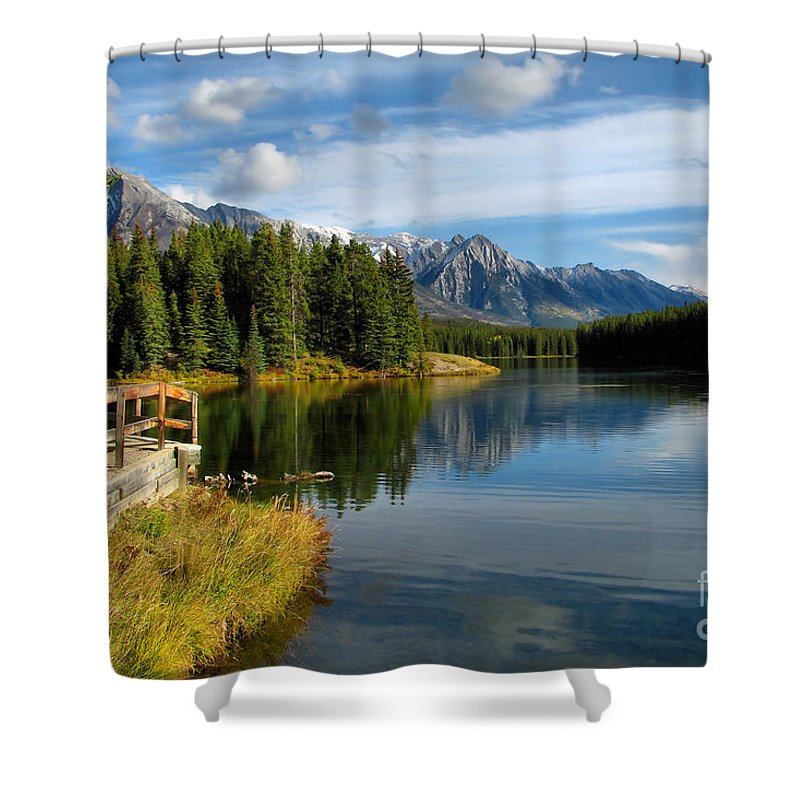 Johnson Lake Shower Curtain featuring the photograph Johnson Lake by James Anderson
