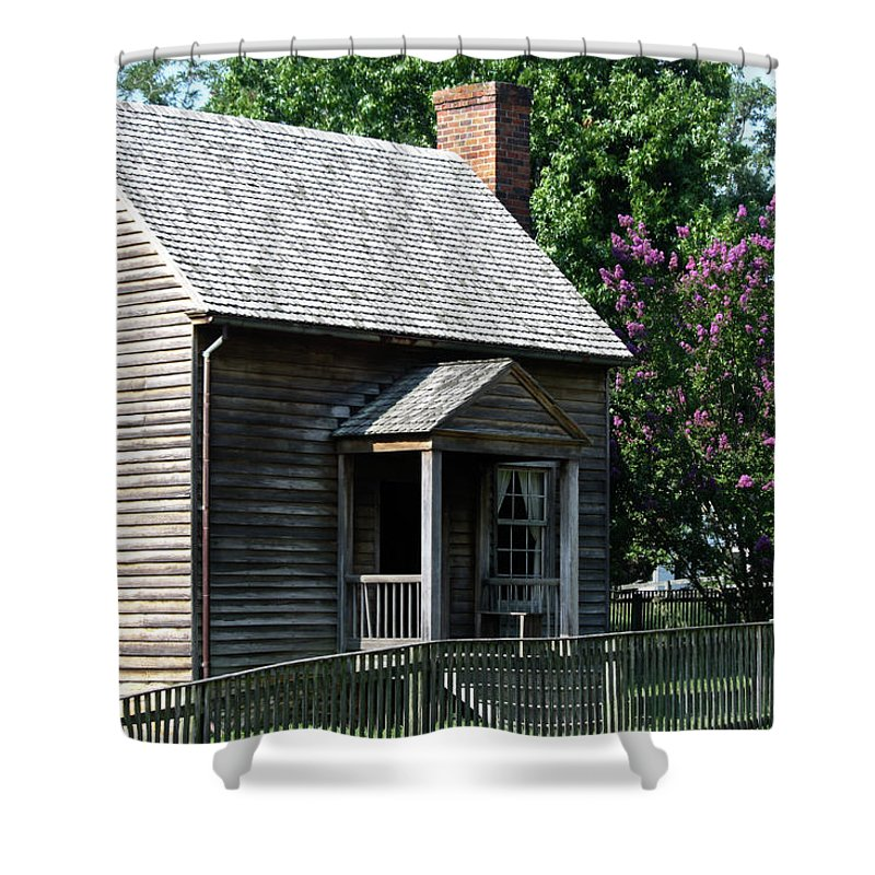 Appomattox Shower Curtain featuring the photograph Jones Law Office Appomattox Court House Virginia by Teresa Mucha