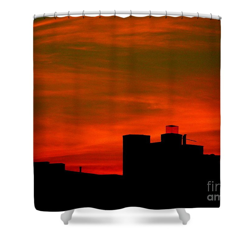 Sunset Shower Curtain featuring the photograph June 2 2009 by Mark Gilman