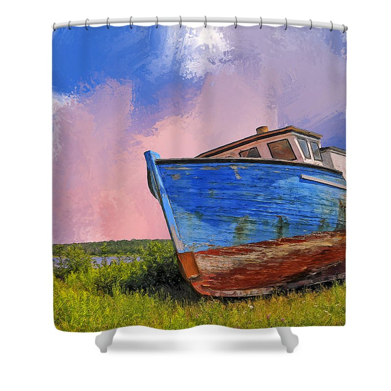 Resting Shower Curtain featuring the painting Just Resting by Dominic Piperata