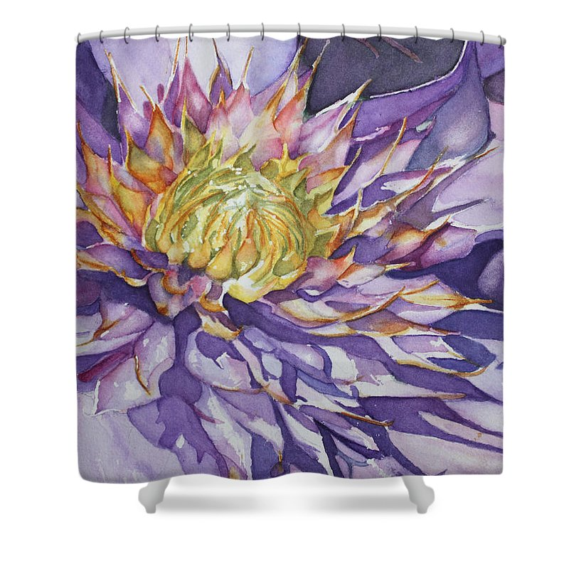 Watercolor Shower Curtain featuring the painting Kaleidoscope by Christiane Kingsley