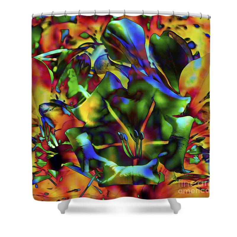 Fine Art Print Shower Curtain featuring the mixed media Kaleidoscope by Patricia Griffin Brett