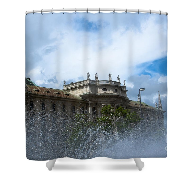 Bavaria Shower Curtain featuring the photograph Karlsplatz Fountain by Andrew Michael