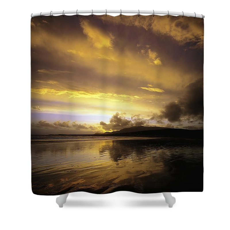 Beauty Shower Curtain featuring the photograph Keel, Achill Island, Co Mayo, Ireland by The Irish Image Collection