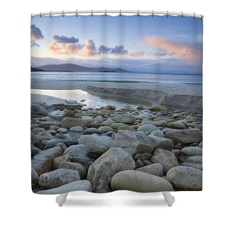 Flat Shower Curtain featuring the photograph Keem Strand, Achill Island, Co Mayo by Gareth McCormack