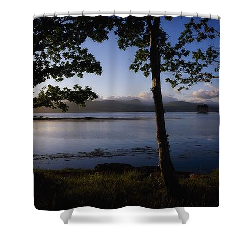Bay Shower Curtain featuring the photograph Kenmare Bay, Ring Of Kerry In Bg, Co by The Irish Image Collection