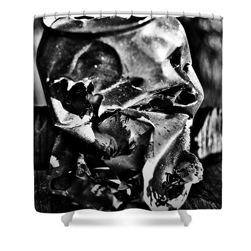 Well Shower Curtain featuring the photograph Kick The Can by The Artist Project
