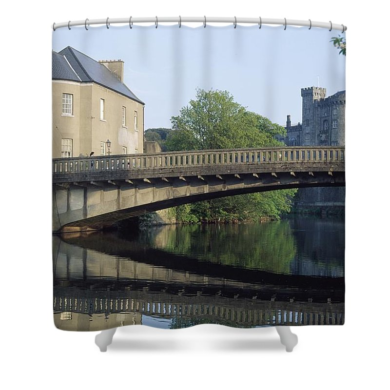 Outdoors Shower Curtain featuring the photograph Kilkenny Castle, Kilkenny, Co Kilkenny by The Irish Image Collection