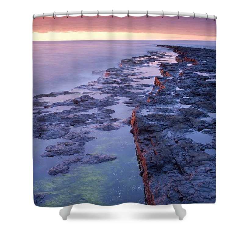 Sunset Shower Curtain featuring the photograph Killala Bay, Co Sligo, Ireland Bay At by Gareth McCormack
