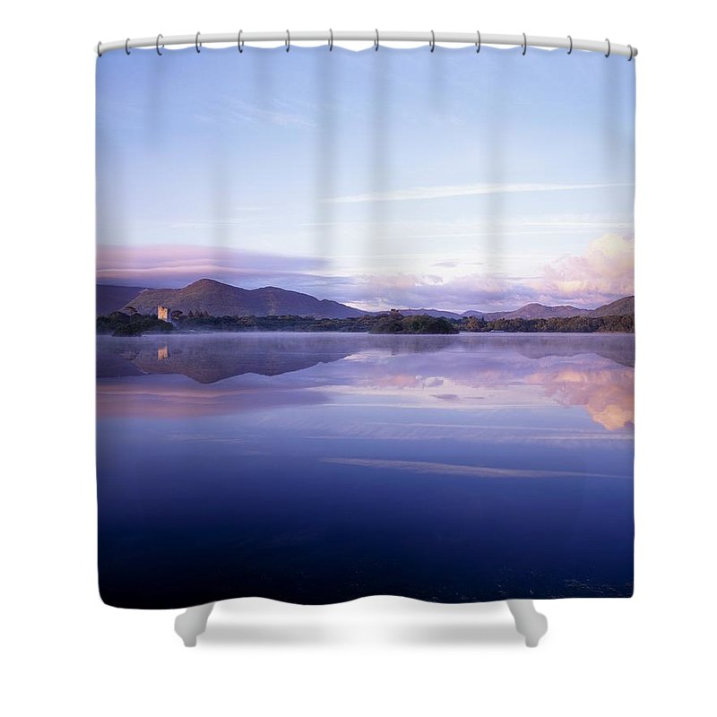 Calm Shower Curtain featuring the photograph Killarney, Co Kerry, Ireland, Ross by The Irish Image Collection