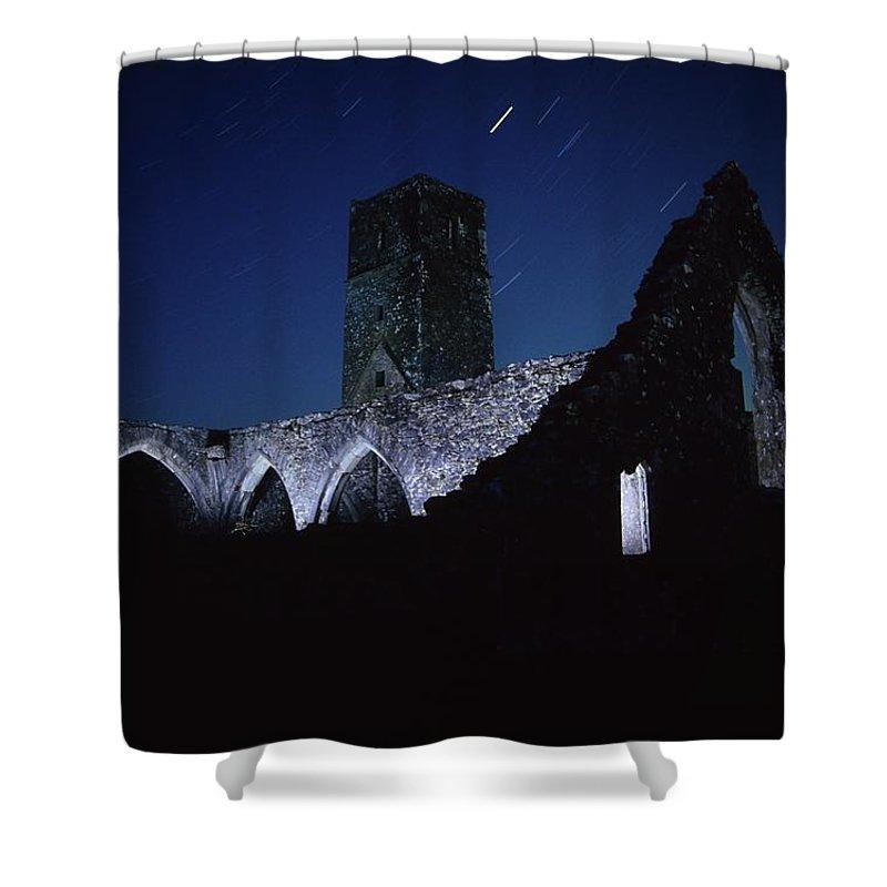 Ancient Shower Curtain featuring the photograph Killcrea Priory, County Cork, Ireland by Richard Cummins