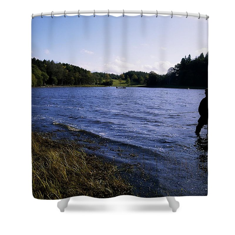 Background People Shower Curtain featuring the photograph Killykeen Forest Park, Co Cavan by The Irish Image Collection
