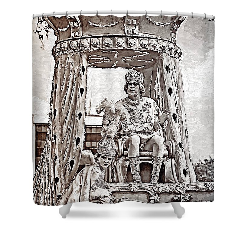 Painted Shower Curtain featuring the photograph King Of Rex - Painted Bw by Kathleen K Parker