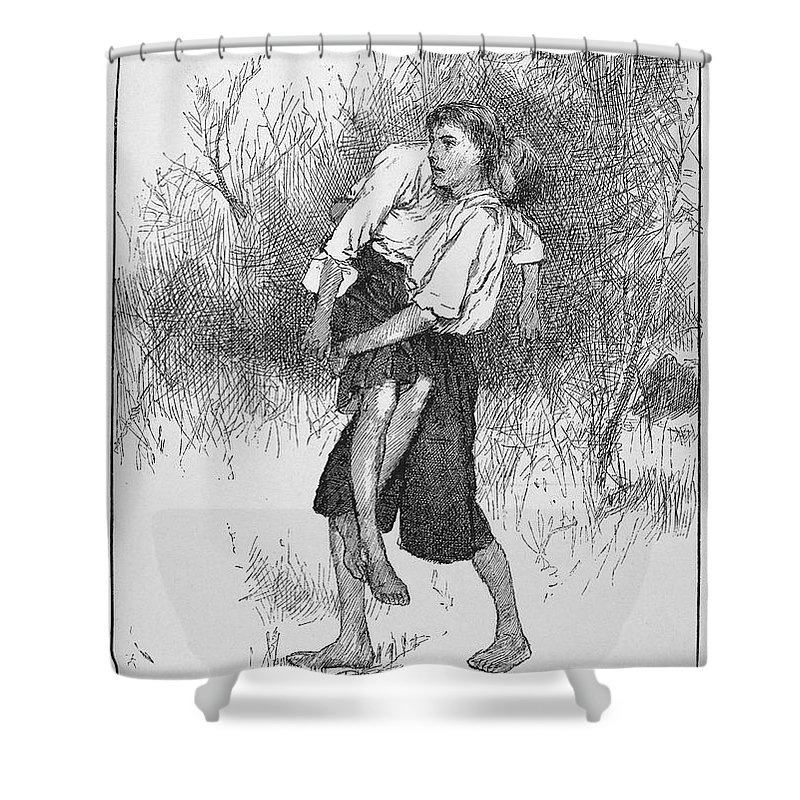 1690s Shower Curtain featuring the photograph King Williams War, C1690 by Granger
