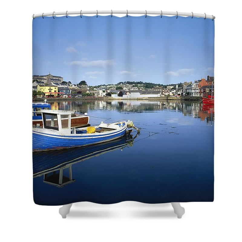 Transportation Shower Curtain featuring the photograph Kinsale, Co Cork, Ireland Boats In The by The Irish Image Collection