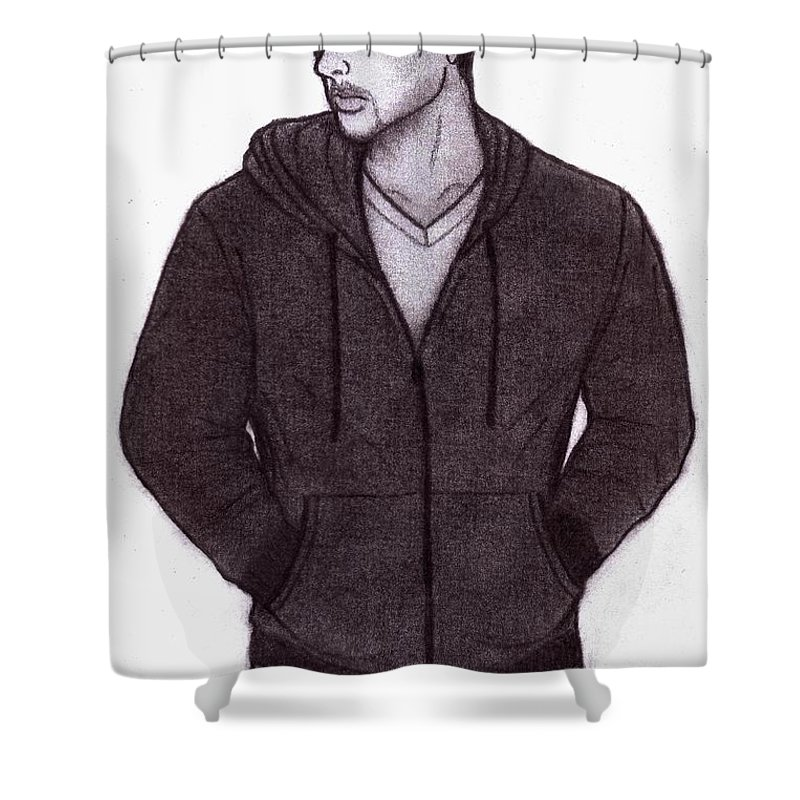 Man Shower Curtain featuring the digital art Kislon by Toualith MEANGO