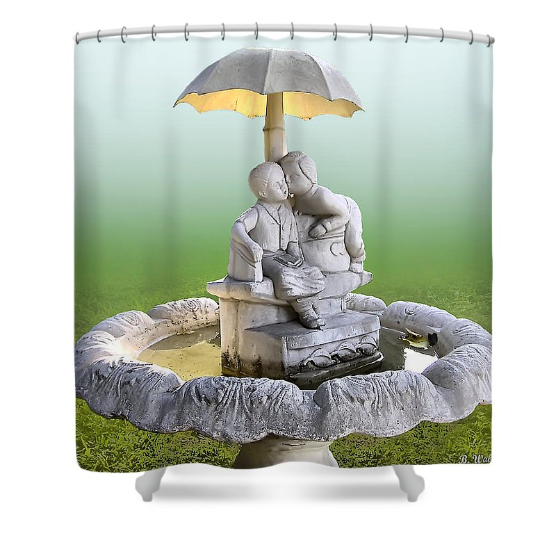 2d Shower Curtain featuring the photograph Kitsch Kiss by Brian Wallace