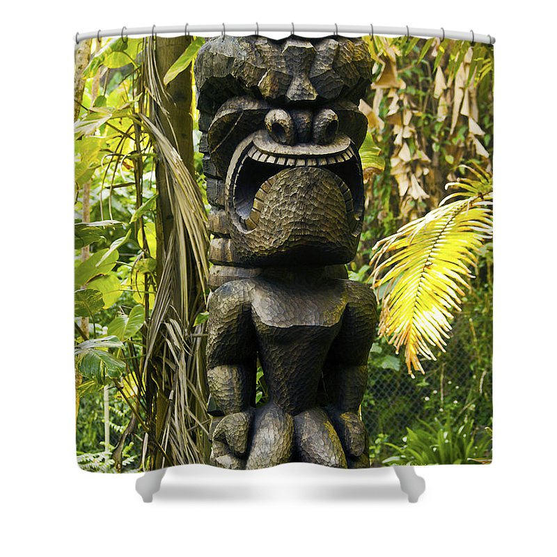Fine Art Photography Shower Curtain featuring the photograph Ku - God Of War by Patricia Griffin Brett