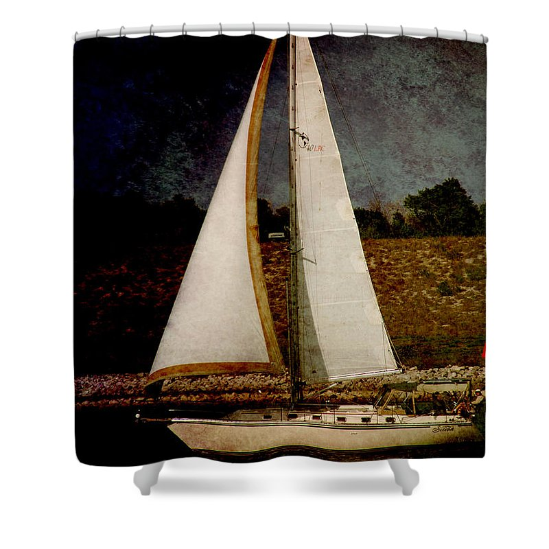 Boat Shower Curtain featuring the photograph La Paloma Blanca Boat by Susanne Van Hulst