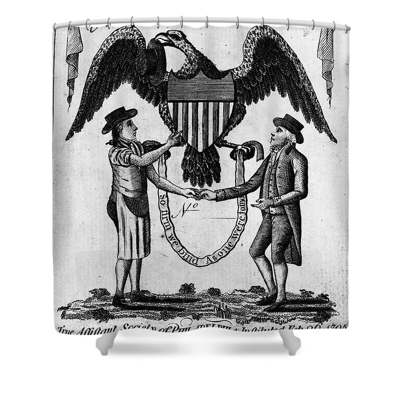 1795 Shower Curtain featuring the photograph Labor Certificate, 1795 by Granger
