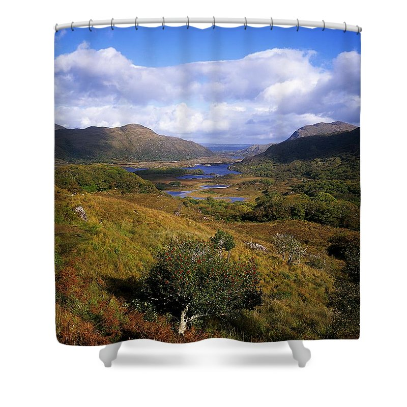 Cloud Shower Curtain featuring the photograph Ladies View, Killarney, Co Kerry by The Irish Image Collection