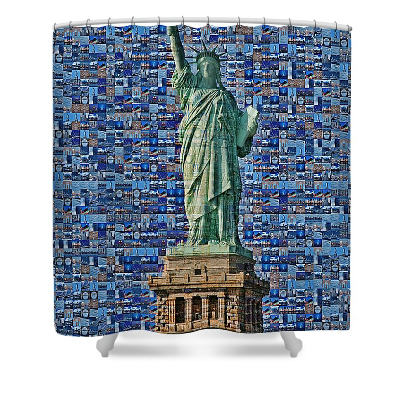 Lady Liberty Mosaic Shower Curtain for Sale by Susan Candelario