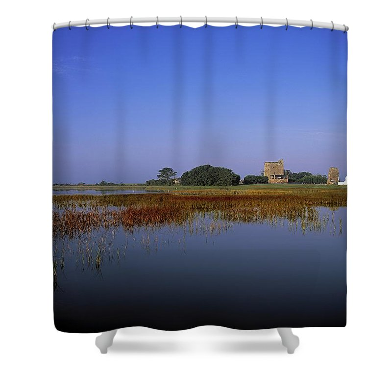 Outdoors Shower Curtain featuring the photograph Ladys Island, Co Wexford, Ireland Site by The Irish Image Collection