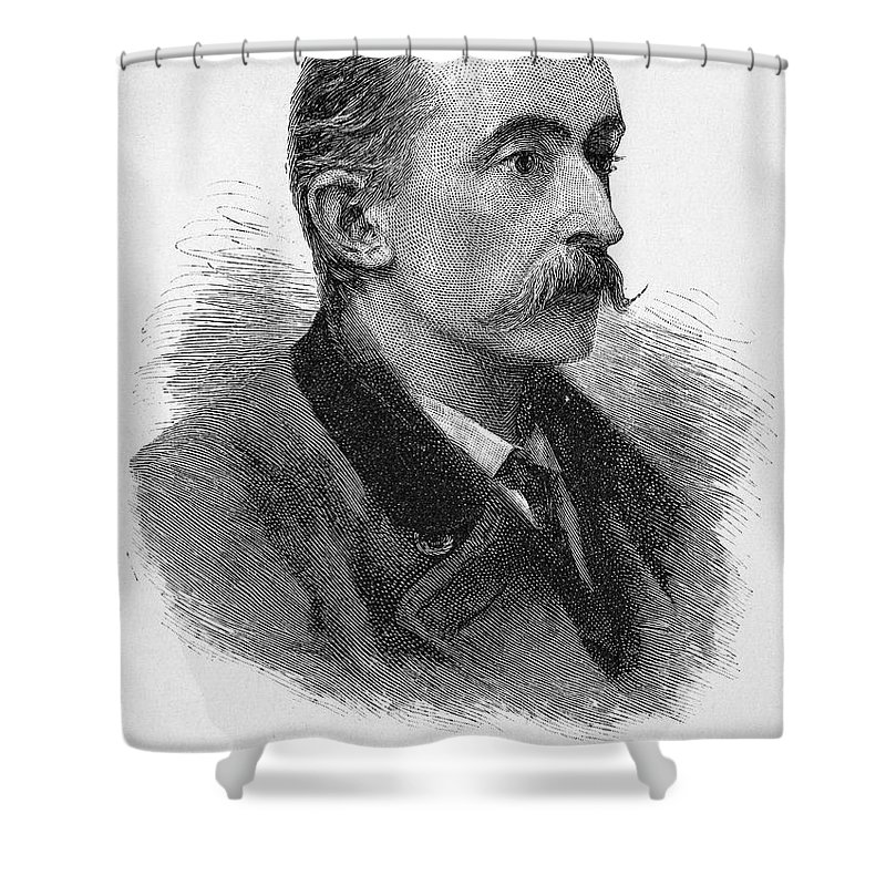 1887 Shower Curtain featuring the photograph Lafcadio Hearn (1850-1904) by Granger